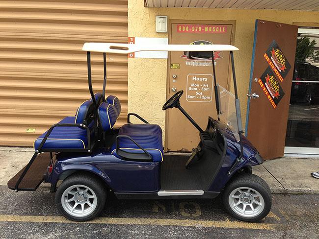 Golf Cart - Blue Golf Cart