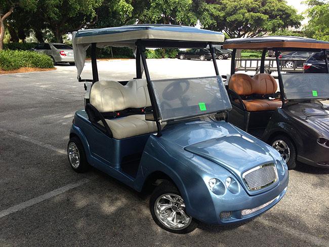 Golf Cart Baby Blue Bentley