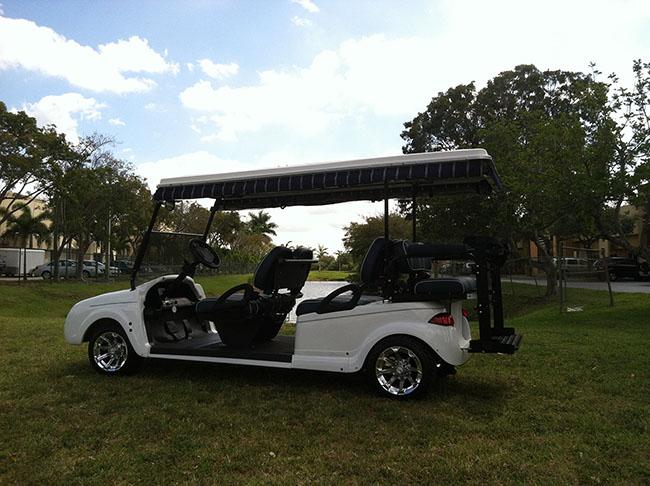 Golf Cart White Bentley