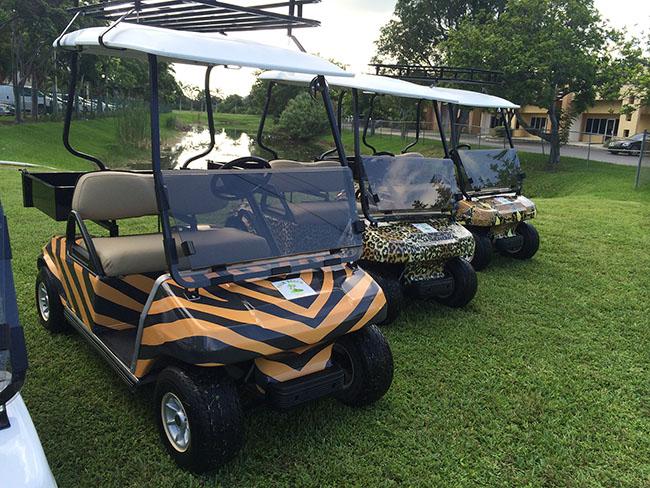 Golf Cart - Animal Prints