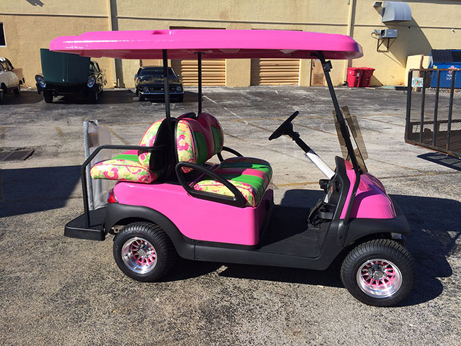 Golf Cart - Pink and Green